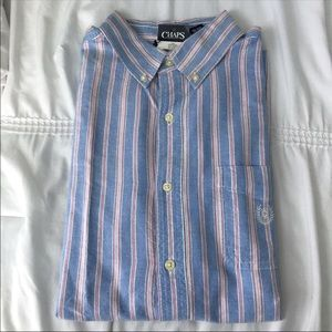 Chaps Long Sleeve Button Down Shirt Large
